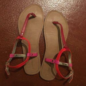 Multicolor strappy sandals