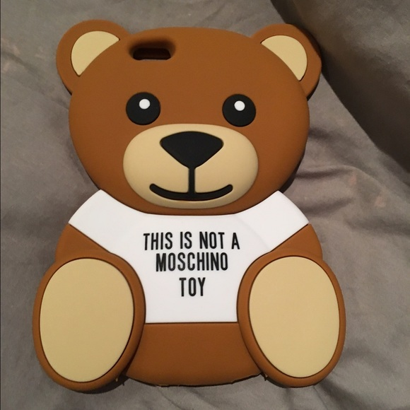 new products ca415 6fdf9 iPhone 6plus Moschino Teddy phone case