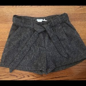 Urban outfitters paperbag tie tweed shorts
