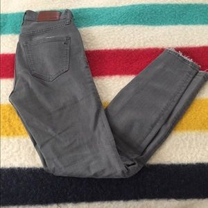 Madewell gray high riser skinny jeans size 24