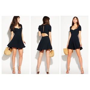 Reformation Apricot dress black SMALL new