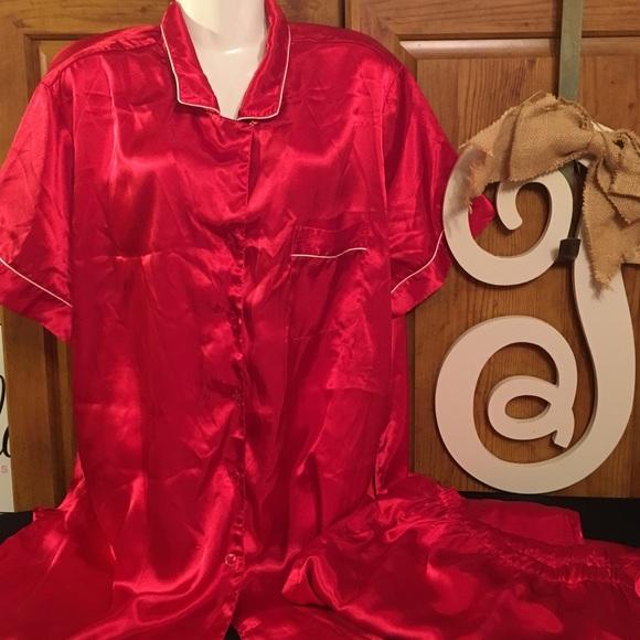 Cabernet Intimates Sleepwear Red Pajamas 100 Polyester 2x Poshmark