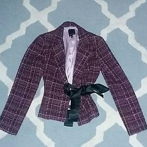 Purple tweed blazer from The Limited