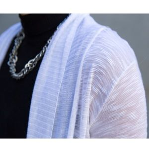 Rue21 Sweaters - White Longsleeve Cardigan Sweater Shirt Summer Top