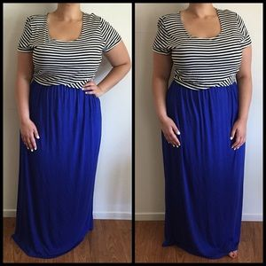 Dresses & Skirts - Blue & Stripped Maxi