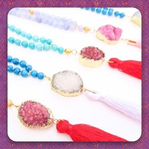 Twilight Gypsy Collective Jewelry - 🚨Clearance🚨 Mixed Sacred Druzy Tassel Necklaces!