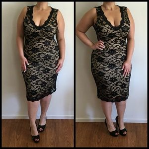 Dresses & Skirts - Nude & Black Lace Dress*