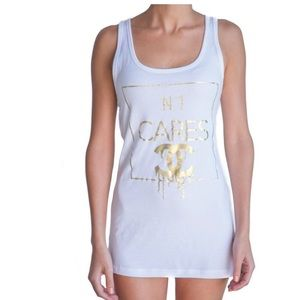 No1 CARES white tank