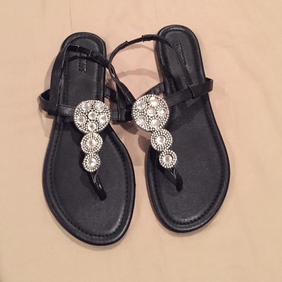 ac2ddba43d4d Brand New MixIt Embellished Black Sandals. M 5754df6498182934e306d58a