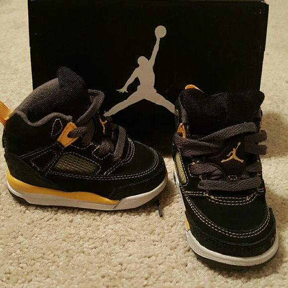 02e8081456e1 Jordan Shoes - Baby Nike Air Jordan Spizike Black Yellow