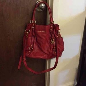 Mk red purse