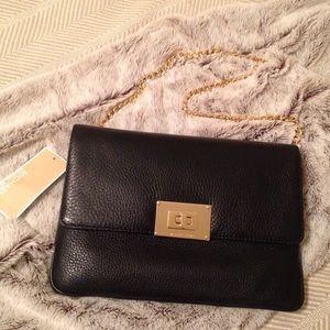 NWT Michael Kors Sloan Black Leather Purse