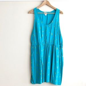 PRICE DROP Mossimo teal cut out dress