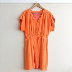 PRICE DROP Orange Madewell dress front buttons