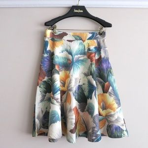 HUMP DAY SALE Floral a-line skirt