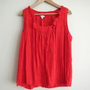 HAPPY 4th SALE Anthro red button back tank blouse