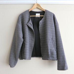 SUNDAY SALE Grey Line & Dot jacket with zips