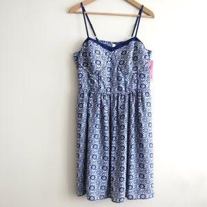 HUMP DAY SALE Mossimo strappy dress in blue white