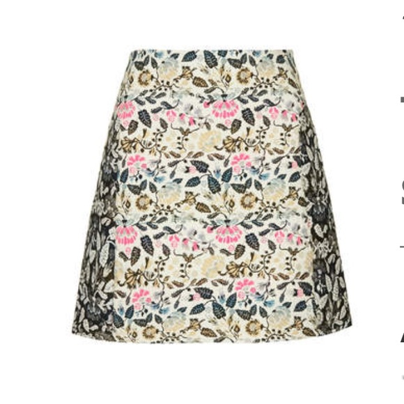 46% off Topshop Dresses & Skirts - Garden Floral A Line Skirt from ...