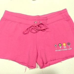Dylan's Candy Bar lounge shorts Medium Pink