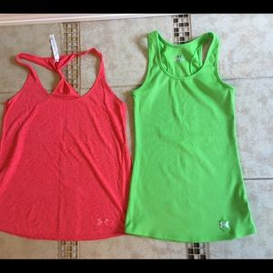 UNDER ARMOUR 2 work out tank tops
