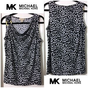 Michael Kors Collection Knit Animal Print Top