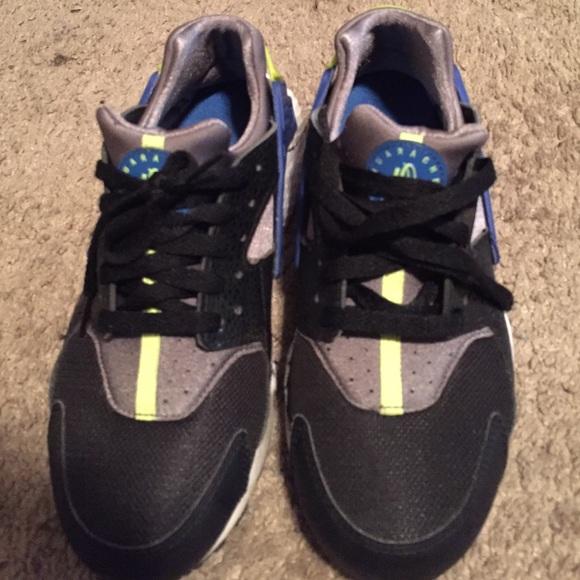 Nike Shoes | Huaraches Blue Black Grey