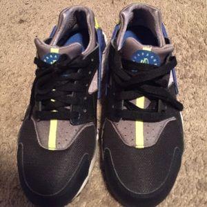 Nike Shoes   Huaraches Blue Black Grey