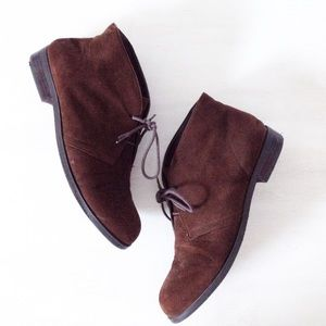 brown desert booties