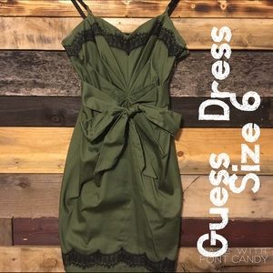 Army green Guess dress!