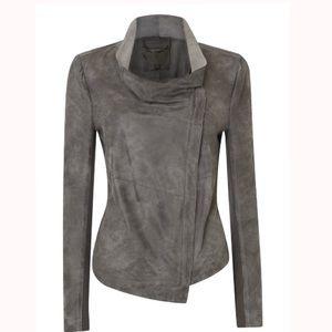 Muubaa Jackets & Blazers - Muubaa Geneva Grey Suede Drape Jacket