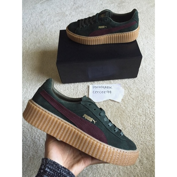 check out e1f0e 81e17 PUMA SUEDE CREEPERS BORDEAUX GREEN CREEPER SIZE 10 NWT
