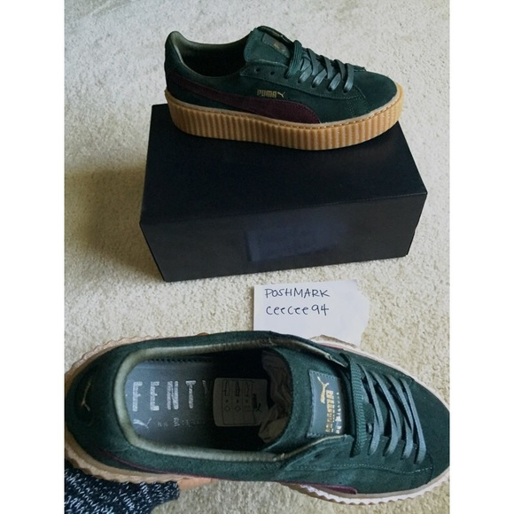 puma puma suede creepers bordeaux green creeper size 10 from cee 39 s closet on poshmark. Black Bedroom Furniture Sets. Home Design Ideas