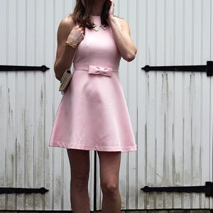 Chicwish Pink Dress With Bow