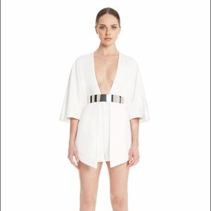 AQAQ Pants - White Romper/Playsuit