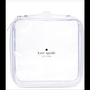 🆕🎉🎉 KATE SPADE CLEAR COSMETIC BAG 🚫trades