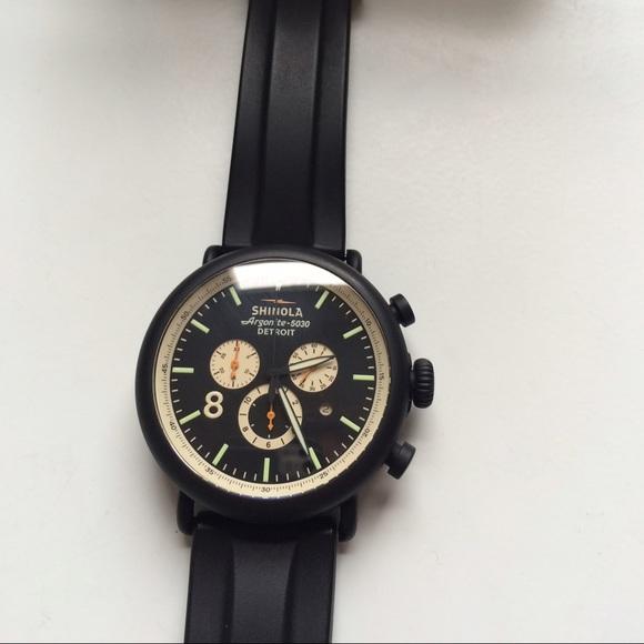 797e47df965 Shinola Runwell Contrast Chronograph Watch Black