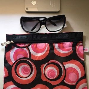 Black Psychedelic Swirl Zipper Pouch/Clutch/Bag