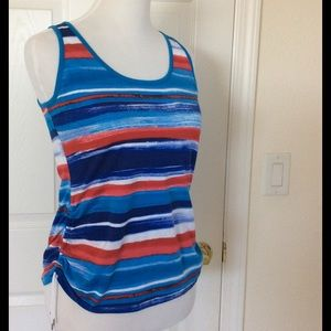 Chaps Tops - Chaps Red, White & Blue Sleeveless Top