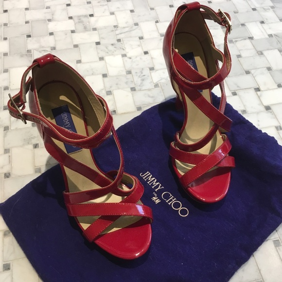 dcdbf5f2bcb Jimmy Choo Shoes - NEW Jimmy Choo for H M Red Sandals