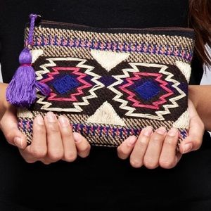 Southern Girl Fashion Handbags - BOHEMIAN BAG Native Tapestry Coin Pouch Mini Purse