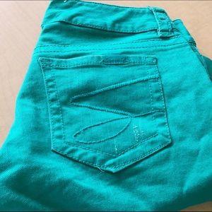 7Seven Crop Green Jeans