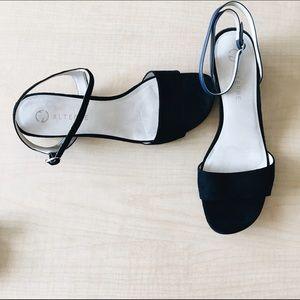 Alterre Interchangeable Heeled Suede Sandals