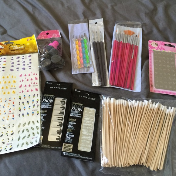 Other Nail Art Supply Brushes Dabber Dotter Stickers Set Poshmark