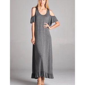 Open Shoulder Maxi Dress