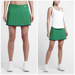 Nike Dresses & Skirts - Nike Dri-Fit Green Pleated Tennis Skirt