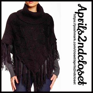 Boutique Accessories - ❗1-HOUR SALE❗Poncho Pullover Tassel Sweater