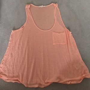 Soft Joie orange and white tank top