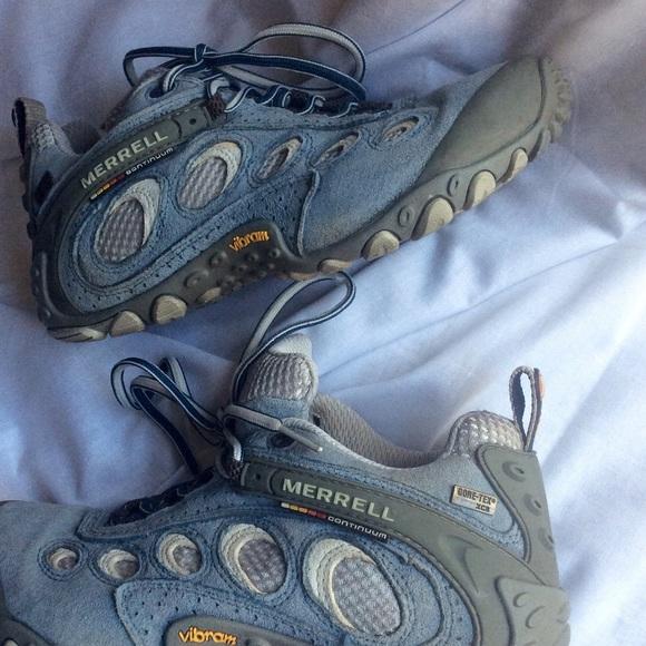 Merrell scarpe   Goretex Vibram Hiking Light blu   Poshmark