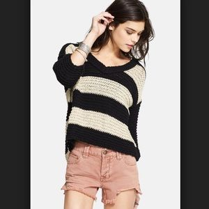 Free People Park Slope v neck sweater